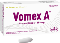 VOMEX A 150 mg Suppositorien